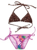Girl's Bowie James 'Welcome To The Jungle' Two-Piece Triangle Swimsuit