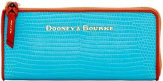 Dooney & Bourke Embossed Lizard Zip Clutch