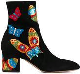 Valentino Garavani butterfly appliquéd ankle boots