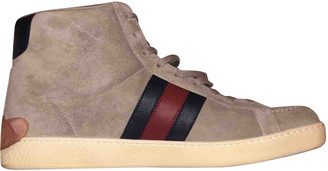 Gucci Grey Suede Trainers