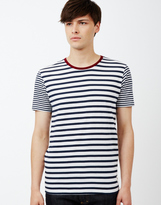 ONLY & SONS Stripe O-Neck T-Shirt White
