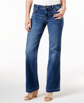 Calvin Klein Jeans Flare-Leg Bardot Blue Wash Jeans