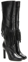 Saint Laurent Fringed leather knee-high boots