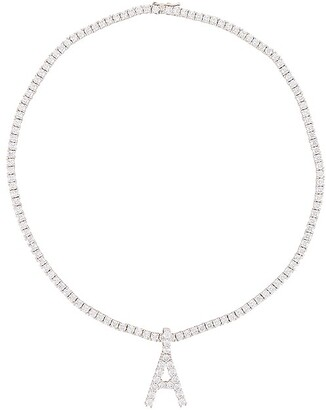 The M Jewelers NY Full Iced Out Letter Necklace