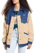 Wrangler Oversized Faux Shearling & Denim Jacket
