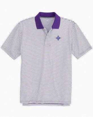 Southern Tide Furman Paladins Pique Striped Polo Shirt