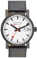 Mondaine '(Evo)lution - SBB' Leather Strap Watch, 30mm