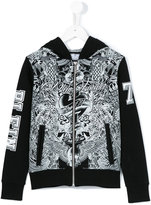 Philipp Plein printed hoodie - kids - Cotton - 8 yrs