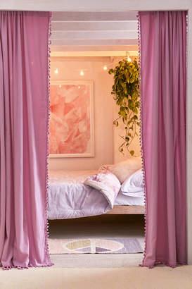 Urban Outfitters Palma Fringe Light Blocking Window Curtain