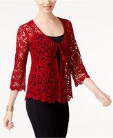 Alfani Petite Cotton Crochet-Lace Cardigan, Created for Macy's