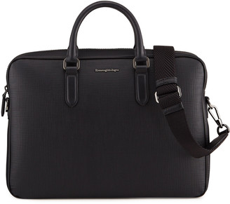 Ermenegildo Zegna Men's Stuoia Leather Briefcase