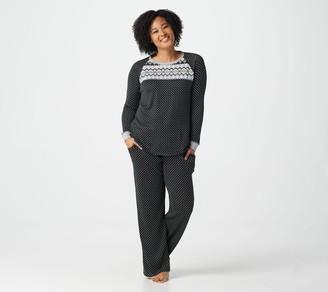 Cuddl Duds Petite Apres Ski Pajama Set