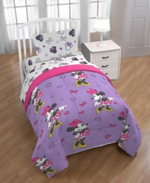 Disney Minnie Mouse Purple Love Twin Comforter Bedding