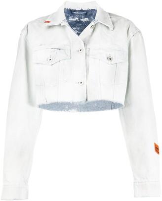 Heron Preston Raw-Hem Denim Jacket