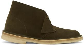 Clarks Khaki Suede Desert Boots
