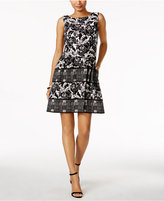 Vince Camuto Floral-Print Fit and Flare Dress