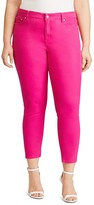 Lauren Ralph Lauren Plus Skinny Ankle Jeans in Bold Pink Wash