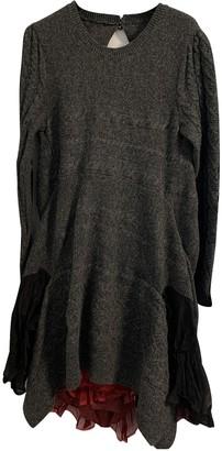 Sacai Grey Wool Dresses