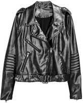 H&M Biker Jacket - Black - Ladies