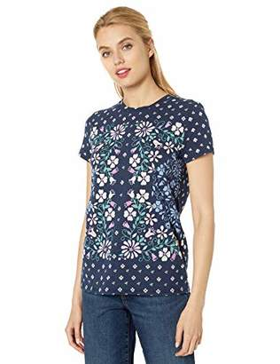Lucky Brand Women's Floral Scarf Print TEE