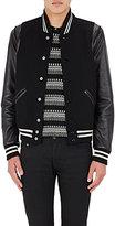 Saint Laurent Men's Wool-Blend Varsity Jacket-BLACK