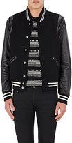 Saint Laurent Men's Wool-Blend Varsity Jacket