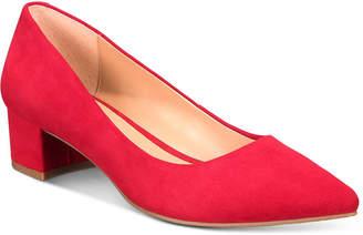 Alfani Women Step N' Flex Cashh Low Block-Heel Pumps, Women Shoes