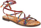 Valentino Garavani Santeria Lace-Up Flat Leather Sandals