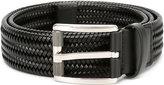 Salvatore Ferragamo classic braided pattern belt - men - Leather/Spandex/Elastane - 90
