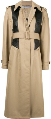 Alexander Wang textured panel trench coat