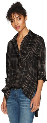 LIRA Women's Hayworth Plaid Button up Top