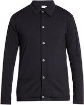 Sunspel Point-collar wool-knit shirt