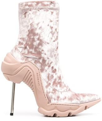 Rombaut Boccaccio velvet sock boots