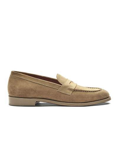 Grenson Shoes Floyd Loafer in Cloud Suede