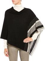 Qi Variegated Stripe Poncho