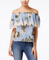 Say What Juniors' Ruffled Off-The-Shoulder Top
