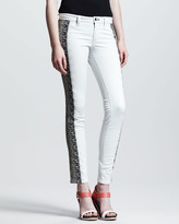 Rag and Bone Split Skinny Embroidered Jeans