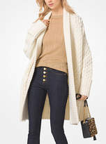 Michael Kors Cable Wool-Blend Cardigan