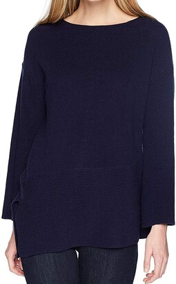 Chaus Women's L/s Asymmetrical Pullover Sweater