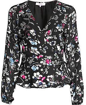 Parker Women's Floral Wrapped Tie Blouse