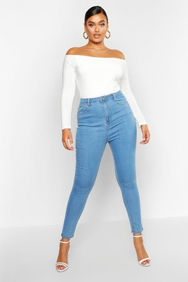 boohoo Plus High Waist Skinny Jean