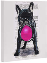 Deny Designs Bulldog With Bubblegum 01 By Coco De Paris