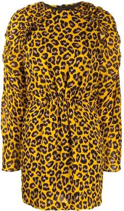 MSGM Animal Print Mini Dress