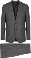 Giorgio Armani Grey Pinstriped Wool Suit