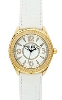 Alviero Martini Prima Classe Women's PCD 924S/1BB Gold PVD White Dial Crystal Watch