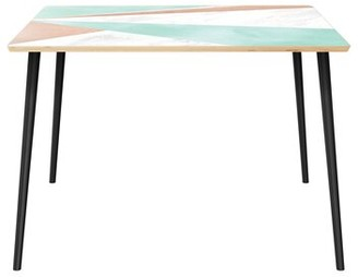 """Wrought Studioâ""""¢ Hadsell Dining Table Wrought Studioa Top Color: Natural, Base Color: Black"""