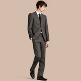 Burberry Modern Fit Wool Cashmere Microcheck Part-canvas Suit