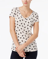 Maison Jules Bow-Print T-Shirt, Only at Macy's