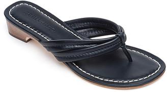 Bernardo Miami Leather Thong Sandals, Navy