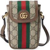 Gucci Mini Floral Chain Bag in Beige Ebony | FWRD